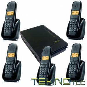 Pbx switchboard with 5 Gigaset Cordless telephones