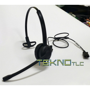 Economical monaural professional headset