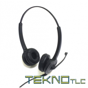 Biaural telephone headset for Snom IP phone