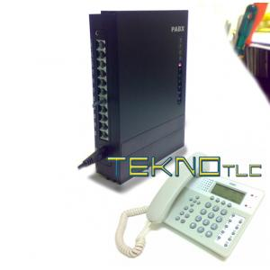 Centralino analogico PBX 308+office 201 bianco