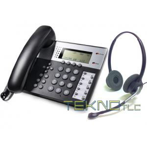 Bundle cuffia biauricolare tk880 telefono office 201