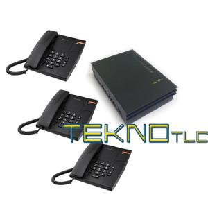 Bundle Centralino Pbx 108+3 telefoni Alcatel Temporis 180