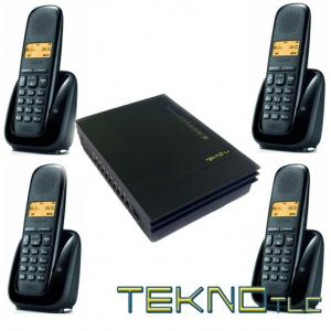 Pbx switchboard with 4 Gigaset Cordless telephones