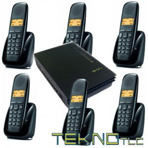 Pbx switchboard with 6 Gigaset Cordless telephones
