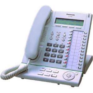 Panasonic telefono digitale KX-T 7633 bianco