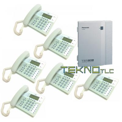 Bundle centrale Tea 308 + 6 Telefono Office 201