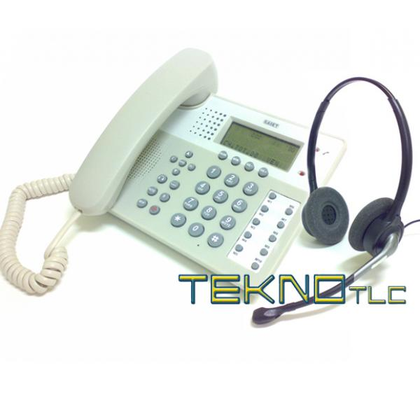 A Phone Saiet Office 201 binaural headset Tk880